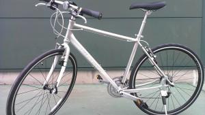 この自転車は買い換える前のもの。